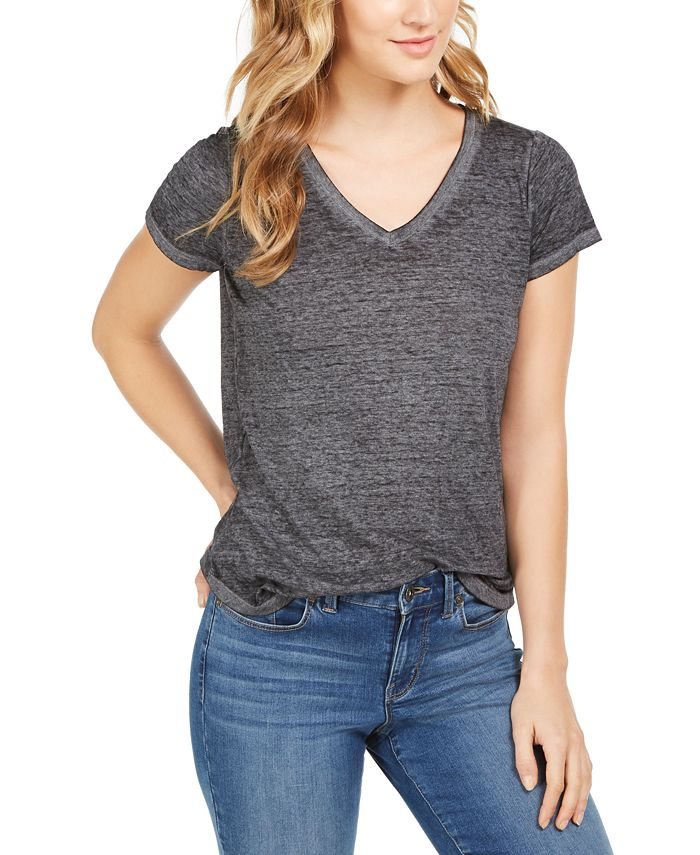 Style & Co - Burnout V-Neck T-Shirt