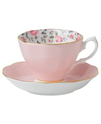 Royal Albert Rose Confetti Cup and Saucer