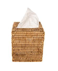 Artifacts Rattan Column Tissue Box Cover