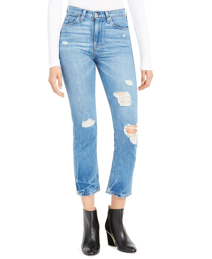 Hudson Jeans - Holly Cropped High-Rise Jeans