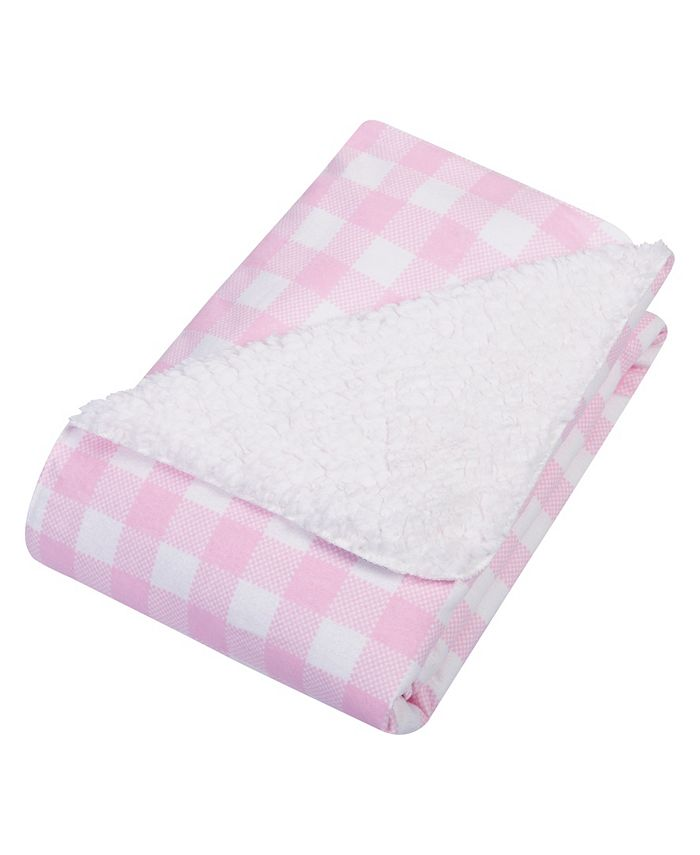 Trend Lab - Buffalo Check Flannel and Sherpa Baby Blanket