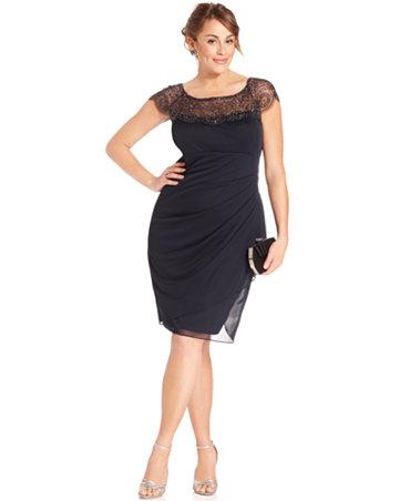 Macys Plus Size Black Dresses Boutique Prom Dresses