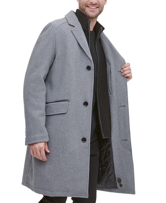 Cole Haan - Men's Twill Bibby Overcoat