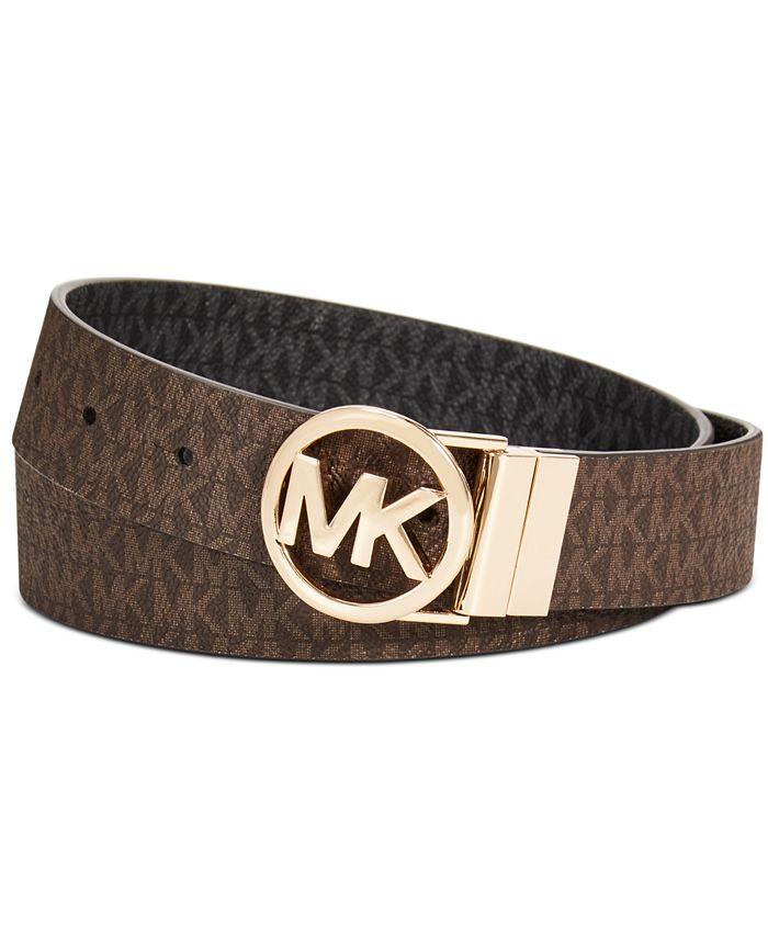 Michael Kors - Reversible Logo with Logo Buckle Belt
