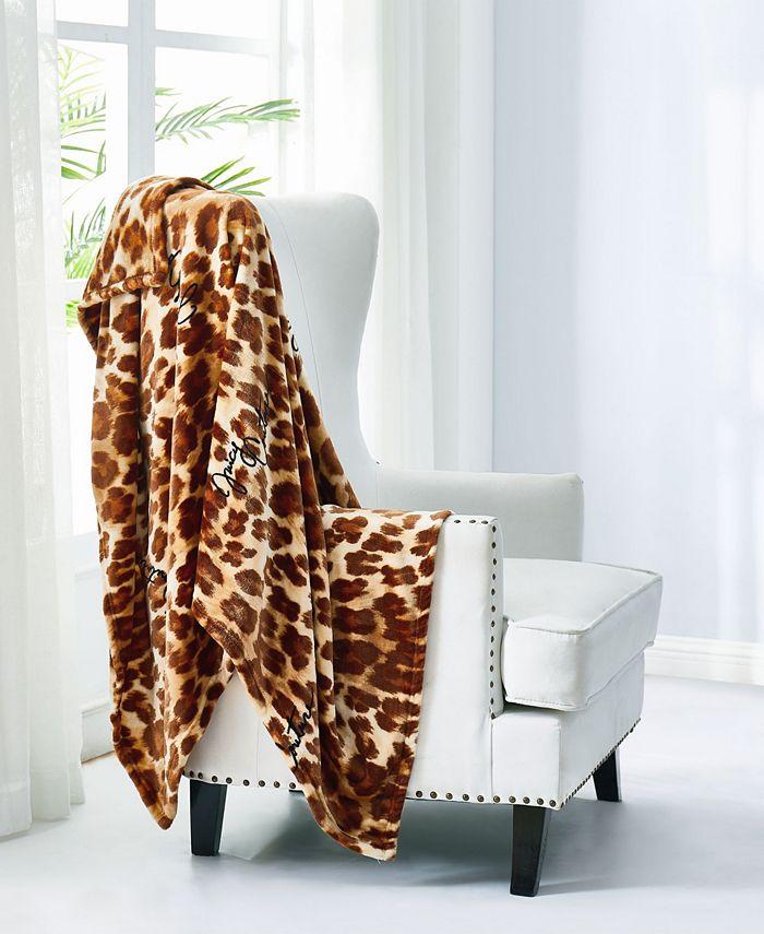 "Juicy Couture - Regent Leopard 50"" x 70"" Plush Throw"