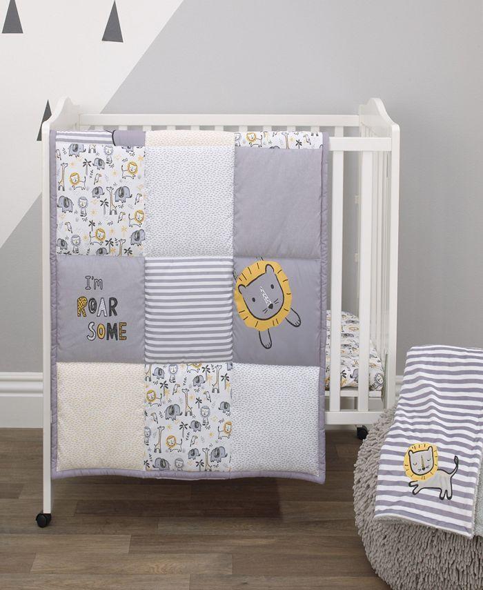 NoJo - Roarsome Lion 3-Piece Mini Crib Bedding Set
