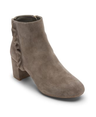 Total Motion Oaklee Ruffle Ankle Boots
