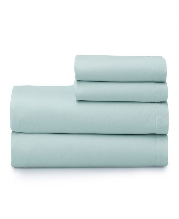 Welhome - The  Super Soft Washed 100% Cotton Breathable Queen Sheet Set