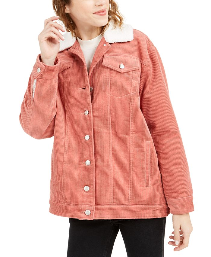 OAT - Faux-Sherpa-Lined Corduroy Jacket