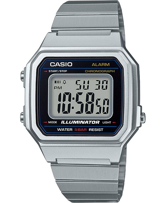 Casio - Men's Digital Vintage tainless Steel Bracelet Watch 43.1mm