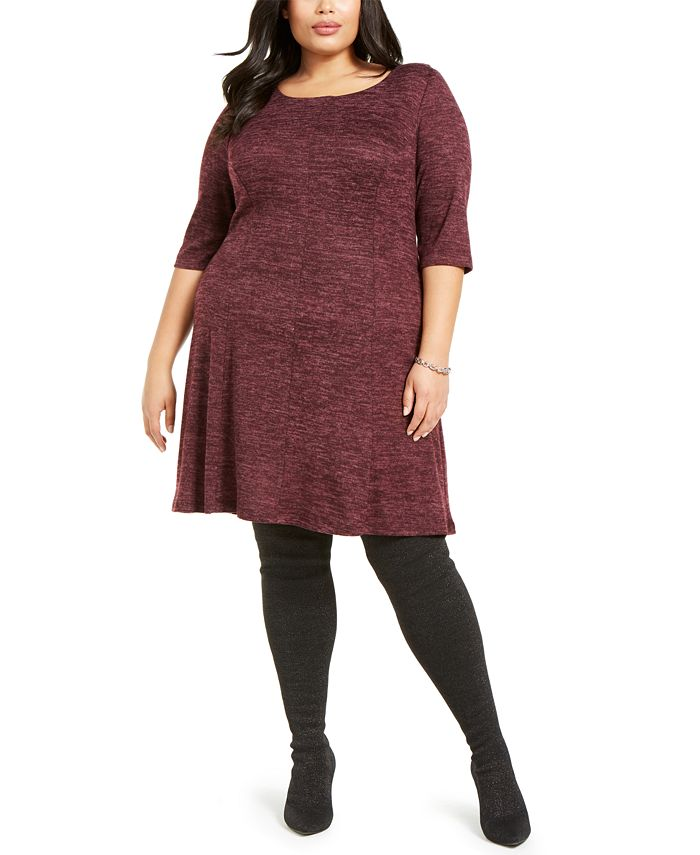 Connected - Plus Size Fit & Flare Sweater Dress
