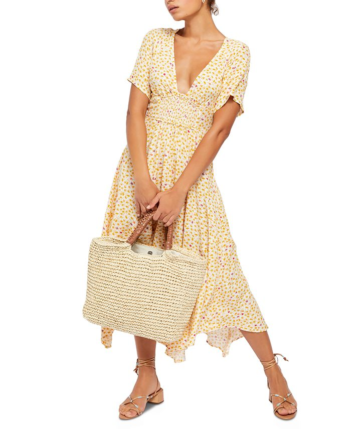Free People - In Full Bloom Plunging Midi Dress