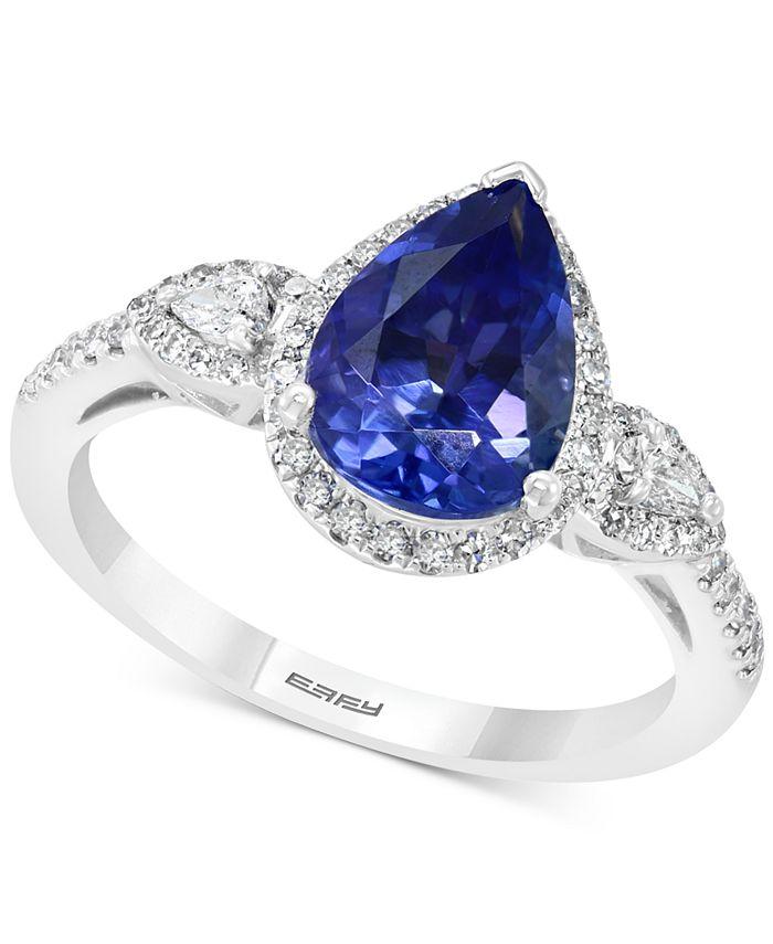 EFFY Collection - Tanzanite (1-3/4 ct.t.w.) & Diamond (1/3 ct. t.w.) Ring in 14k White Gold