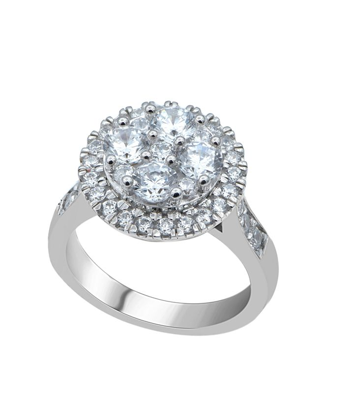 Macy's - Diamond (2 ct. t.w.)  Cluster Halo Ring in 14K White Gold