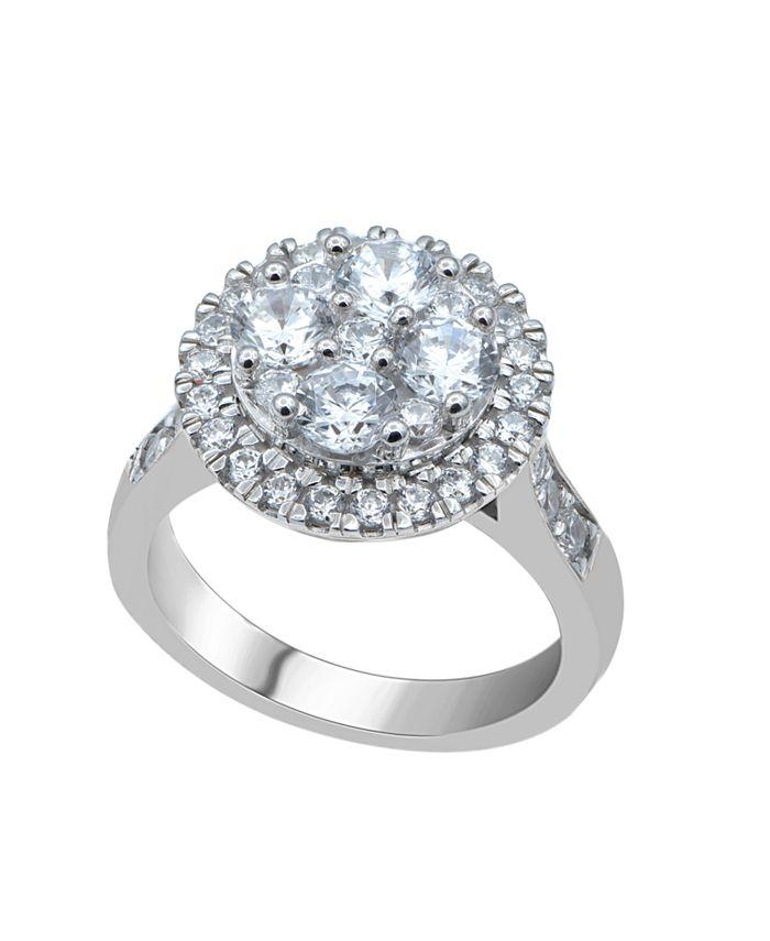 Macy's - Diamond (2 ct. t.w.)  Cluster Halo Ring in 14K White Gold