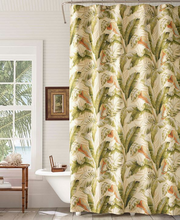Tommy Bahama Home Palmiers 100% Cotton Shower Curtains