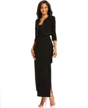 Buy macys & suits - Alex Evenings Dress and Jacket, Draped Beaded Trim