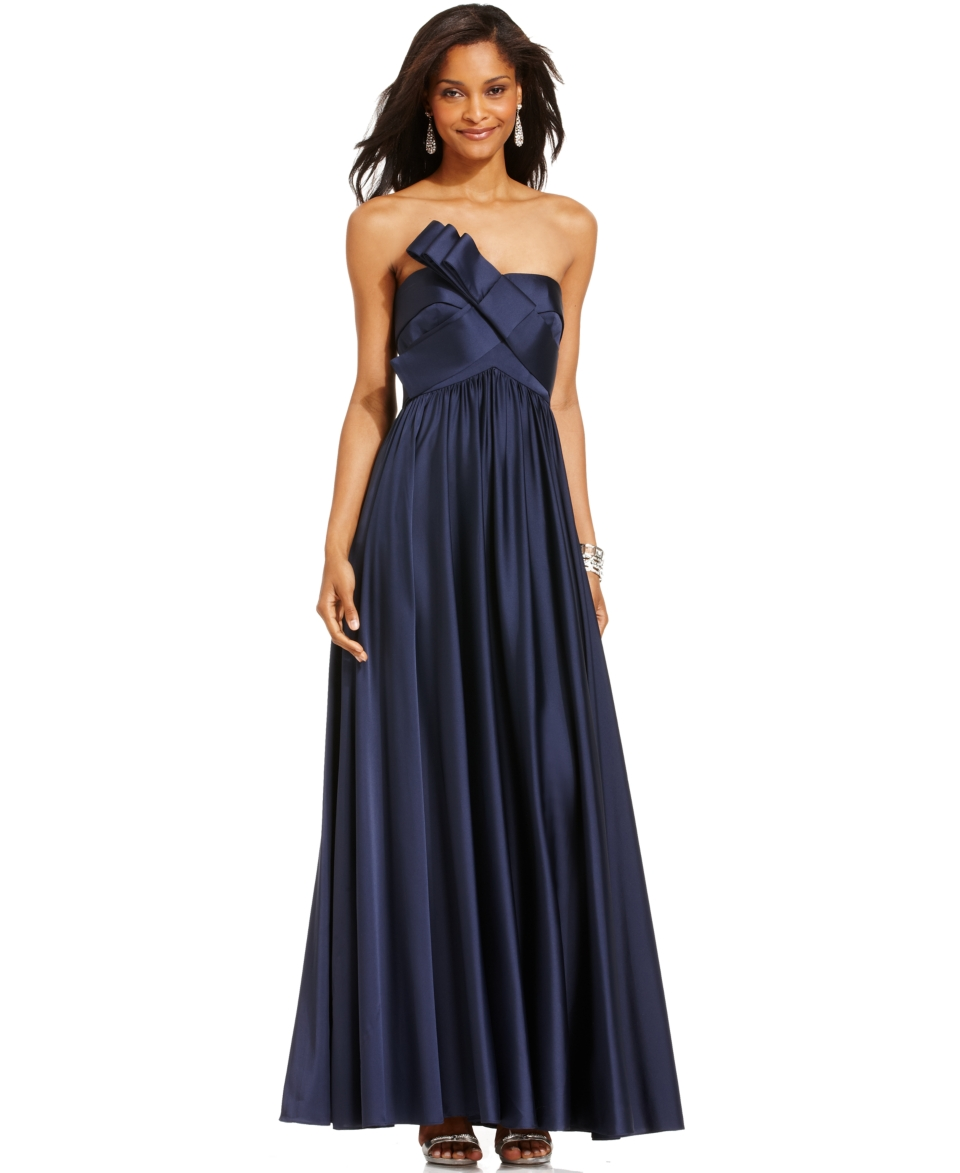 JS Collections Strapless Pleated Gown   Dresses   Women