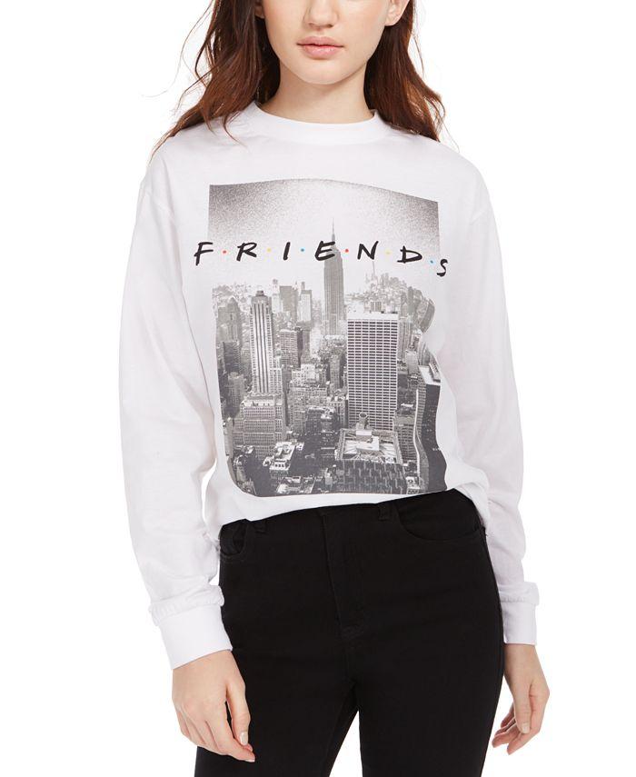 Modern Lux - Juniors' Friends Logo Long-Sleeved Graphic T-Shirt
