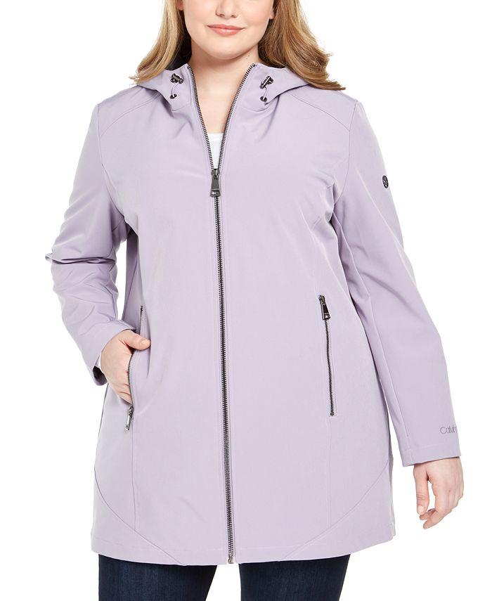 Calvin Klein - Plus Size Hooded Raincoat