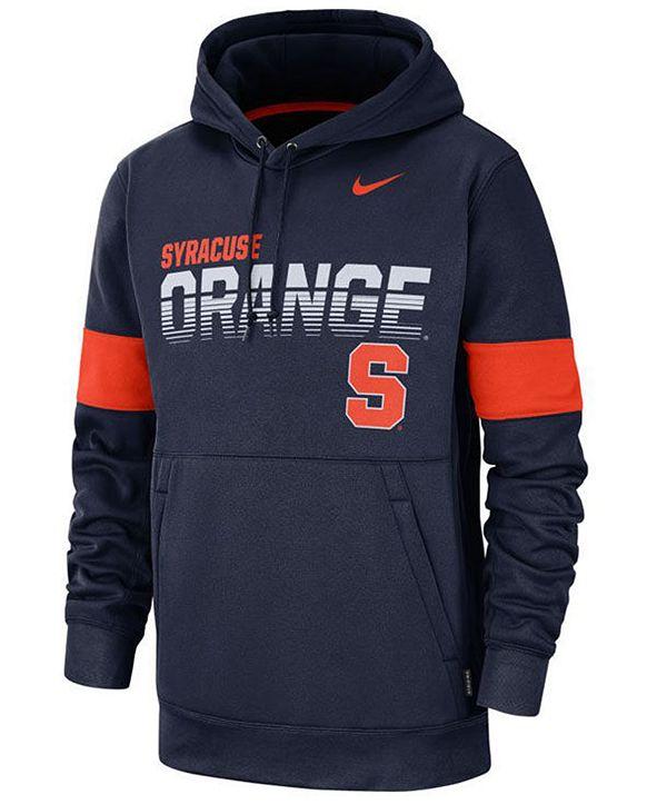 Nike Men's Syracuse Orange Therma Sideline Hooded Sweatshirt