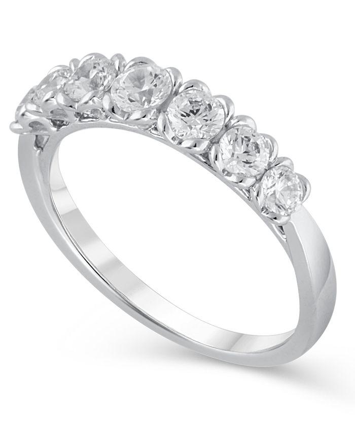 Macy's - Certified Diamond (3/4 ct. t.w.) Anniversary Band in 14K White Gold