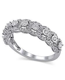Certified Diamond (1/2 ct. t.w.) Anniversary Ring in 14K White Gold