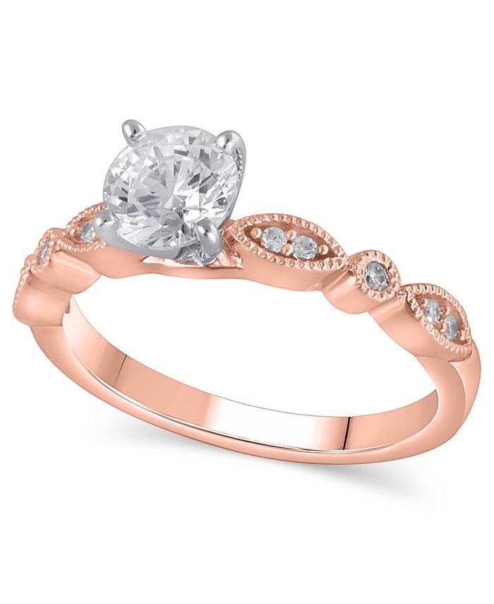 Macy's - Certified Diamond Engagement Ring (1 ct. t.w.) in 14k Rose Gold
