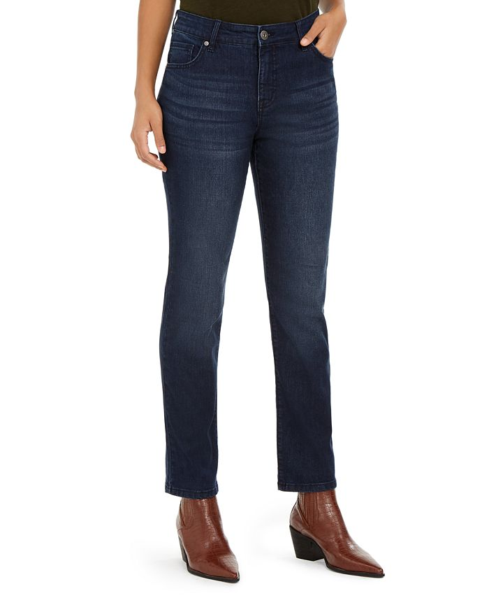 Style & Co - Modern Straight Mid Rise Jeans