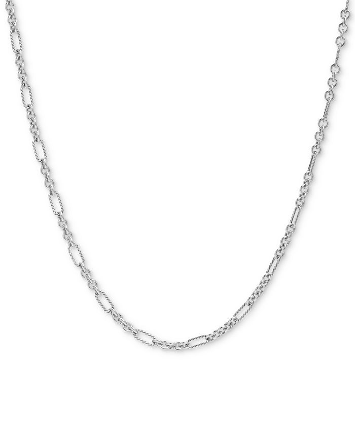 """Carolyn Pollack - Figaro Link 24"""" Chain Necklace in Sterling Silver"""