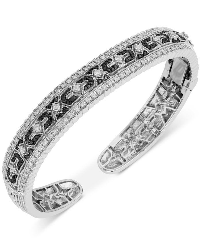 Macy's Diamond Cuff Bracelet (1-1/4 ct. t.w.) in Sterling Silver & Reviews - Bracelets - Jewelry & Watches - Macy's