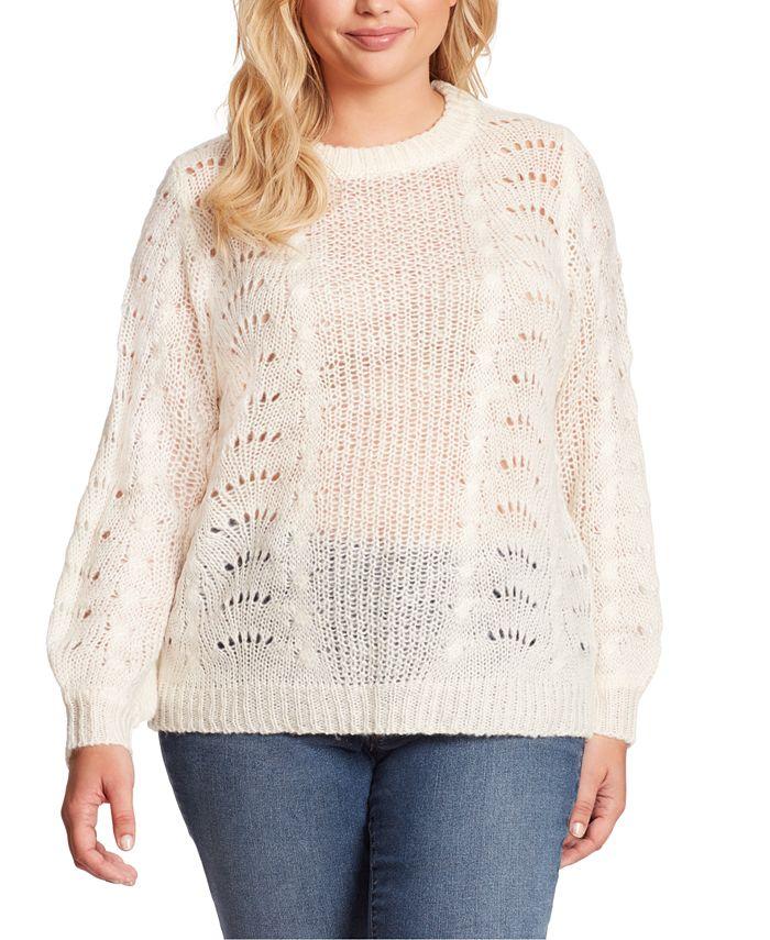 Jessica Simpson - Plus Size Hazel Pointelle Sweater