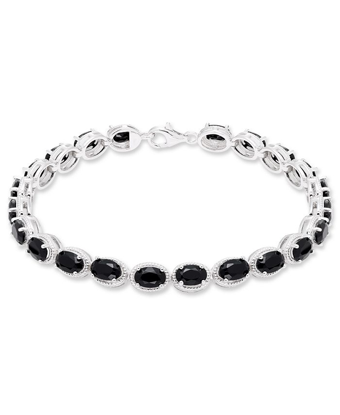Macy's - Black Onyx (22 mm) Bracelet in Sterling Silver