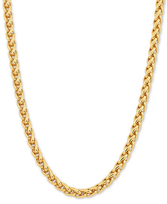 """Macy's - Wheat Link 24"""" Chain Necklace in 18k Gold-Plated Sterling Silver"""