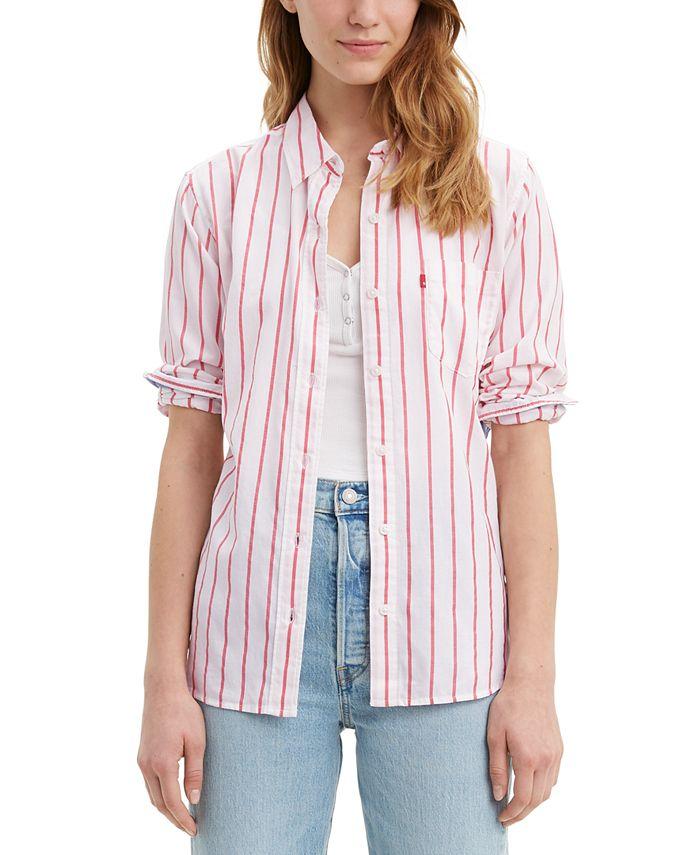 Levi's - Ultimate Boyfriend Striped Cotton Shirt