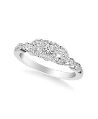 Diamond Princess Bridal Set (3/4 ct. t.w.) in 14k Yellow, White or Rose Gold
