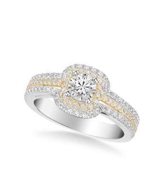 Diamond Princess Bridal Set (1 ct. t.w.) in 14k Two Tone White & Rose or White & Yellow Gold