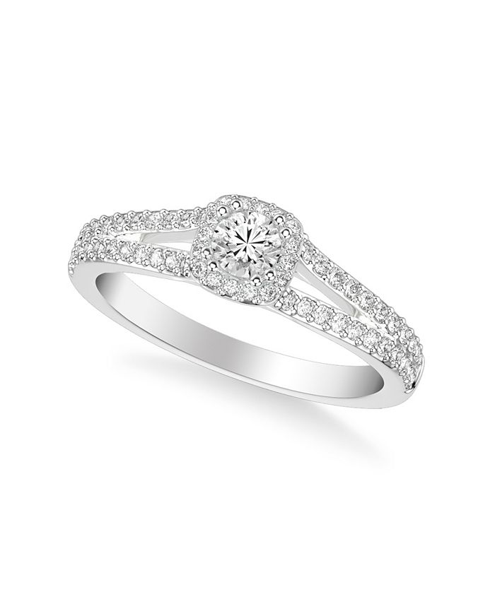 Macy's - Diamond Engagement Ring (1/2 ct. t.w.) in 14k White, Yellow or Rose Gold