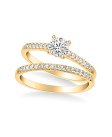 Diamond Bridal Set (3/4 ct. t.w.) in 14k Yellow, White or Rose Gold