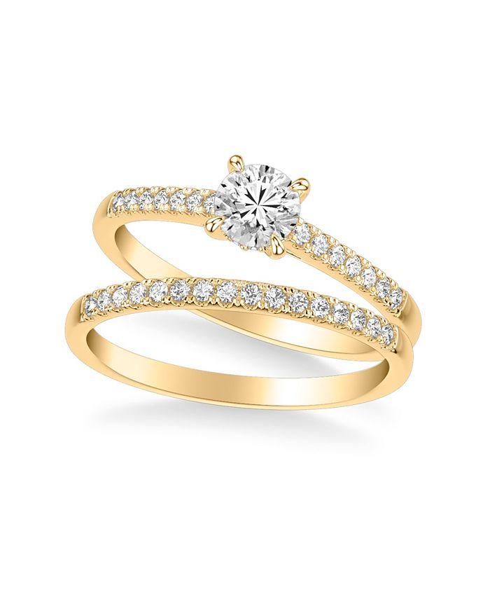 Macy's - Diamond Bridal Set (3/4 ct. t.w.) in 14k Gold