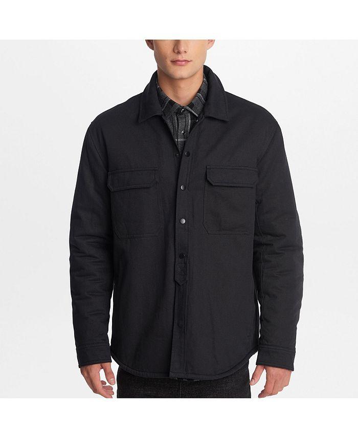 Karl Lagerfeld Paris - Men's Faux Sherpa Lined Shirt Jacket