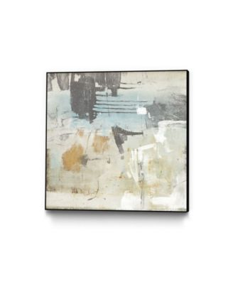 "30"" x 30"" Fission I Art Block Framed Canvas"