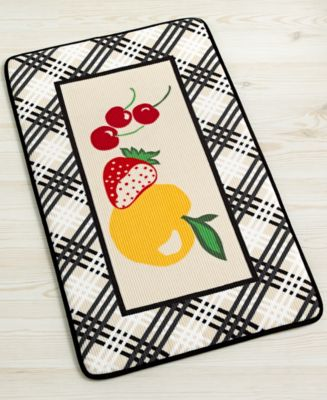"Martha Stewart Collection Fresh Fruit 18"" x 30"" Memory Foam Kitchen Mat"