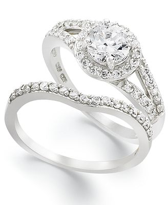 ... Ring Set, Cubic Zirconia Engagement Ring and Wedding Band Set (1-14