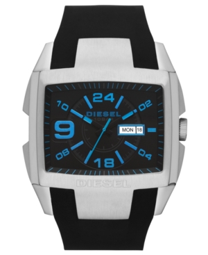 Diesel Watch, Men's Black Silicone Strap 49mm DZ4287 $ 150.00