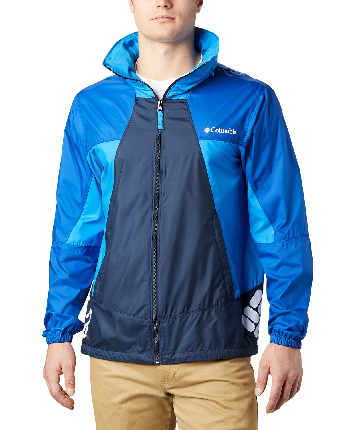 Columbia Mens Point Park Windbreaker Jacket