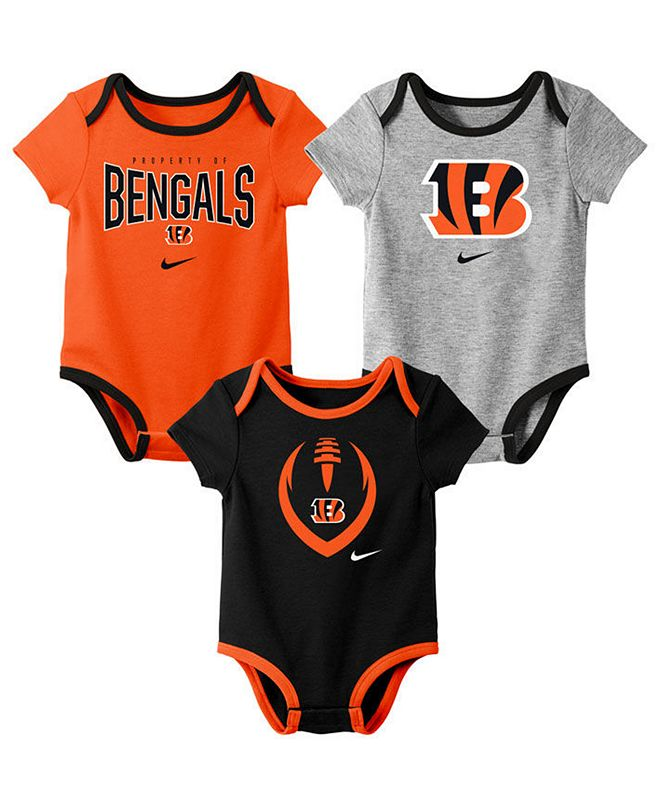 Nike Baby Cincinnati Bengals Icon 3 Pack Bodysuit Set