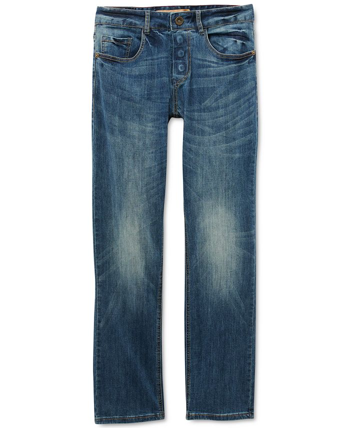 Seven7 - Men's Belmore Classic-Fit Power Stretch Jeans with Magnetic Fly and Stay-Put Closure
