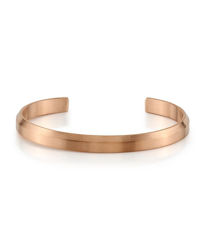 He Rocks - Engravable Cuff in Rose Gold Tone