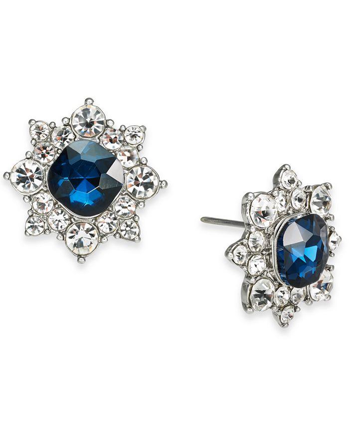 Charter Club - Silver-Tone Crystal Flower Stud Earrings
